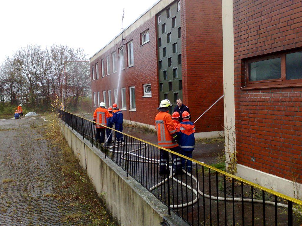 Übung der Stadtjugendfeuerwehr 2009